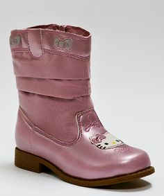 Take a look at this Pink Jenny Cowboy Boot by Hello Kitty on #zulily today!