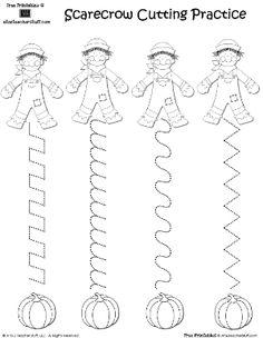 Scarecrow line tracing worksheet