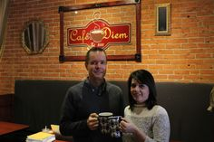 Bill and Jen Malone, owners of Cafe Diem, are celebrating the Main Street coffee shop's 15th anniversary. Photo by Julie Ferrell/Ames Tribune