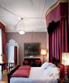 Grand Hotel et de Milan - Hotel 5 stelle lusso Milano -Official Website Milan Hotel, Grand Hotel, Italy, Curtains, Interior Design, Architecture, Bed, Room, Furniture