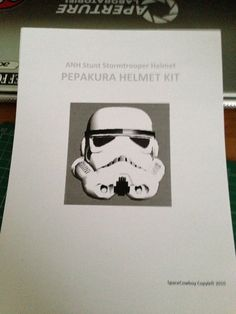 Stormtrooper Helmet ( on a Budget): I've redone this instructables because there was a problem with the last one, it only showed the first step, hope this works as it wouldn't let me edit the last one! Diy Storm Trooper Costume, Pepakura Helmet, Disfraz Star Wars, Bike Challenge, Star Wars Crafts, Step By Step Painting, Stunts, Budgeting, Helmets