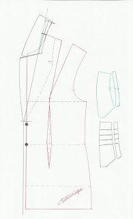 Modelagem de gola e pé de gola passo a passo. Fonte: Moldes Moda por Medida