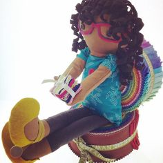 Ebony Loves' doll made from Kid Giddy Sizzix die --- Lovebug Studios