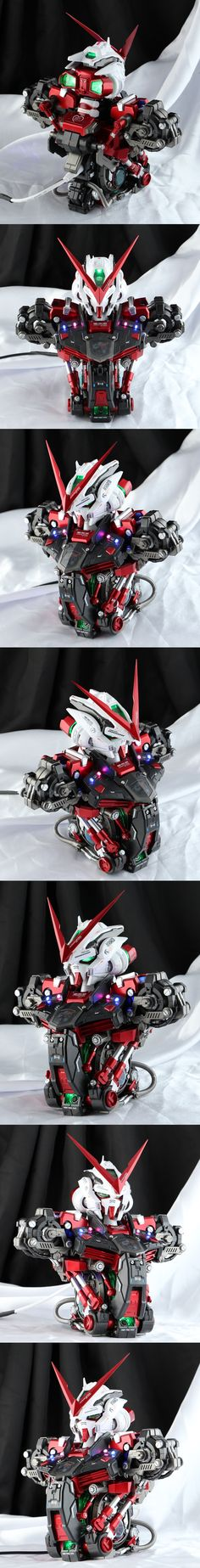 slimeponpon's 1/35 GUNDAM ASTRAY RED FRAME Head Desktop Model. Full REVIEW, Info