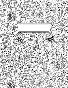Coloring Page 2018 for Coloring Page Binder Cover Printable, you can see Coloring Page Binder Cover Printable and more pictures for Coloring Page 2018 at Children Coloring. Coloring Book Pages, Printable Coloring Pages, Coloring Sheets, Tattoo Painting, Notebook Covers, Doodles, Drawings, Creative, Prints