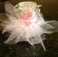 Tutu baby shower favors. Filled with salt water taffy :)
