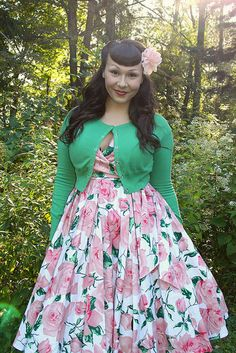 #50s floral #rockabilly dress #outfits / Flower and Sunshine