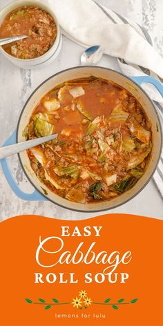 Cabbage roll soup is a great addition to your family's meal plans! It is hearty, filling, and totally delicious! You won't find anything but comfort and good ingredients in this soup!