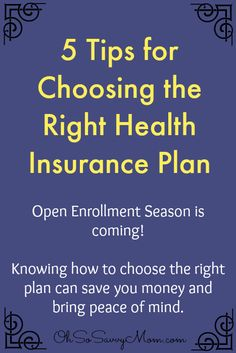 5 tips for choosing the right health insurance plan