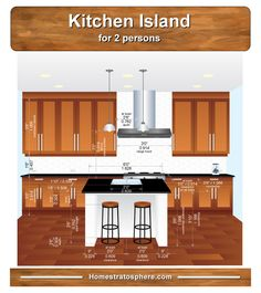 Kitchen Island Dimensions For 2 Seat Size On Casters