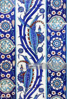 Turkish Tile ~ pattern, design ~ blue and white Turkish Tiles, Portuguese Tiles, Turkish Art, Moroccan Tiles, Moroccan Decor, Islamic Tiles, Islamic Art, Tile Art, Mosaic Tiles