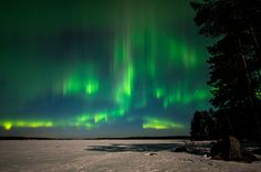 March 8 - Massive solar storms, as clearly visible on the NASA Goddard Photo and Video's photo on the left, are sparking intense Northern Lights displays for skywatchers at high latitudes since yesterday. They are reported to be visible again tonight, as a wave of charged particles reaches Earth. You can find even more photos in our Aurora Borealis search with more pictures from last night.