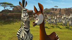 Marty the Zebra and Okapi from Madly Madagascar