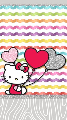 Cute Hello Kitty Valentines Day Wallpaper #HelloKitty #ValentinesDay #Wallpaper #HelloKittyWallpaper