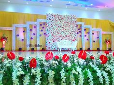 New Wedding Decorations Stage Floral Arrangements 66 Ideas Wedding Hall Decorations, Marriage Decoration, Backdrop Decorations, Fall Decorations, Wedding Reception Flowers, Wedding Mandap, Wedding Stage Design, Floral Arrangements, Chennai