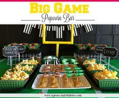 Big Game Popcorn Bar | Garlic Herb Popcorn Seasoning & Cheesy Taco Popcorn Seasoning Recipes #AllStarSnackBar #CollectiveBias ad Popcorn Seasoning, Popcorn Bar, Amazing Crafts, Snack Bar, Party Entertainment, Big Game, Aprons, Delicious Recipes, Herb
