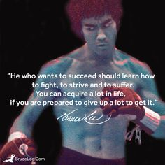 If you know Bruce Lee's story, you know how much work he put into being his best self. #BruceLee #Wobble #BruceLeeLegacy #Strength #Power #Speed #Inspiration