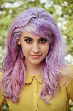 Violet hair/mustard shirt=fashion inspiration!