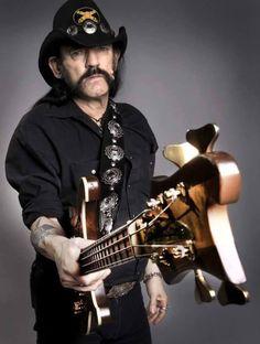 Studio portrait of Lemmy Kilmister - of hard rock band Motorhead, United Kingdom, November