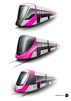 Photoshop Renderings of Birmingham Metro Concepts. Source - Behance