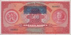 Slovenský štát (1939-1945) - Papírová platidla, bankovky Social Security, Personalized Items, Retro, Cards, Money, Nostalgia, Maps, Playing Cards, Mid Century