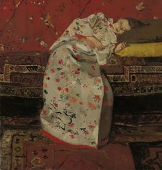 Meisje in witte kimono, George Hendrik Breitner, 1895-1896, Rijksmuseum Twenthe