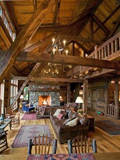 Rustic reclaimed timber frame home...this is the kind of wood I want to use.