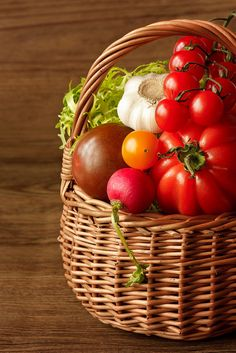 Fresh garden vegetables in a wicker basket on a wooden table.     It doesn't matter what you grow, whether you're an experienced green-thumb or if you're just getting into it, anyone can do this, it's easy, and you can do it too.    Countless farms and gardens are now switching over to Aquaponics, the benefits are ju