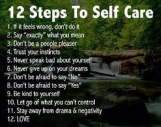 12 steps to self-care