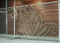 If It's Hip, It's Here (Archives): Turning Chain Link Fencing Into Art. Lace Fences By Demakersvan.