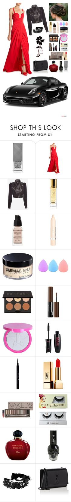 """""""Red Blooded Woman"""" by callmethejoker ❤ liked on Polyvore featuring Burberry, Alexander McQueen, Guerlain, Givenchy, L'Oréal Paris, Dermablend, Zodaca, Elizabeth Mott, Sephora Collection and Yves Saint Laurent"""