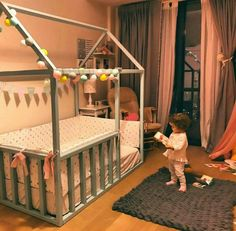 Baby Bedroom, Baby Room Decor, Nursery Room, Girl Room, Girls Bedroom, Toddler Rooms, Toddler Bed, Little Girl Bedrooms, Kid Beds