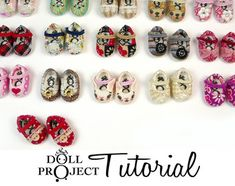 Tiny Doll Shoe PDF Tutorial Make 28mm Shoes for by DollProject
