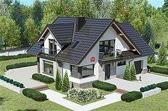 Projekt domu Dom przy Cyprysowej 14 K Beautiful House Plans, Beautiful Homes, Bungalow Style House, Harrison House, Classic House Exterior, House Architecture Styles, House Design Pictures, Architectural House Plans, Home Fashion