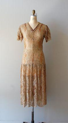 So FAB! That drop waist, ohmy!1920s dress / lace 20s dress / Goldspun Lace dress. $475.00, via Etsy.