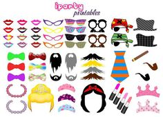 127 PHOTO BOOTH PROPS Instant Download by iPartyPrintables on Etsy, $12.00