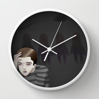 """""""Play off"""" Wall Clock by Arte Cluster I *Awareness through Art* I Benefits go to Education, Awareness & Research of Cluster Headaches I Now on Sale 20% Off !"""