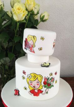 Henriette34 handpainted cake nicely done