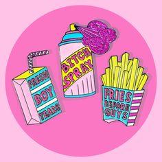 Girl Gang Pin Trio from #CandyDollClub by #JadeBoylan