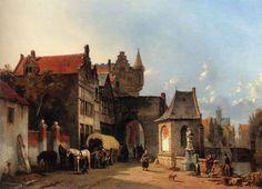 Jacques François Carabain - (1834-1892) The Old City Gate