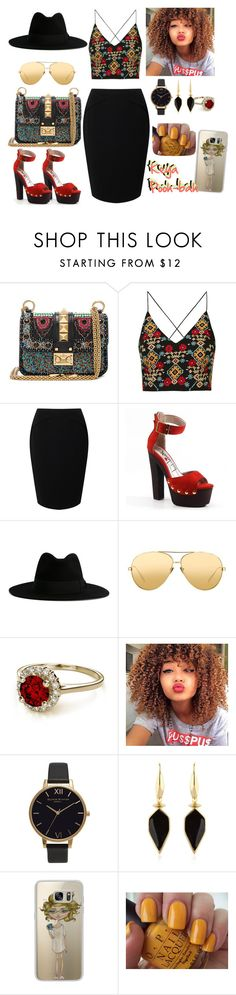 """Shawty Swing Keyah Way"" by africanamericangoddess ❤ liked on Polyvore featuring Valentino, Topshop, Jacques Vert, Luichiny, Yves Saint Laurent, Linda Farrow, Olivia Burton, Isabel Marant, Casetify and OPI"