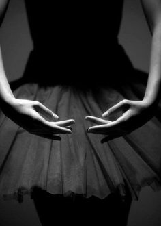 Dance, ballet, hands, gestures, elegant, graceful, skirt, silhouet, beautiful, amazing, photo b/w.