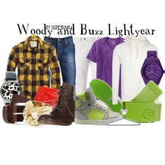Woody and Buzz Lightyear by lalakay on Polyvore