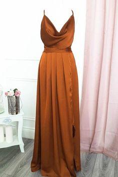 Burnt Orange Bridesmaid Dresses, Burnt Orange Dress, Wedding Bridesmaid Dresses, Burnt Orange Weddings, Orange Prom Dresses, Different Colour Bridesmaid Dresses, Rust Orange, Bridesmaids, Dressy Dresses