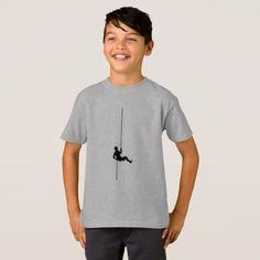 Rock Climbing T-Shirt Climber Rope Mountain Climb - diy cyo customize create your own #personalize