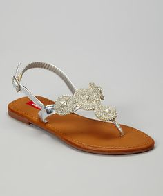 Another great find on #zulily! Silver Elsa Sandal by UNIONBAY #zulilyfinds