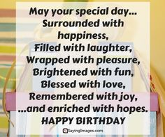 Happy Birthday Quotes, Messages, Pictures, Sms & Images #sayingimages #happybirthdayquotes #quotes
