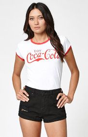 Enjoy Coca-Cola Ringer T-Shirt