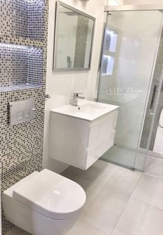 New Bathroom Ideas, Bathroom Inspiration, Modern Bathroom, Small Bathroom, Small Shower Room, Bad Inspiration, Bathroom Design Luxury, Dream Bathrooms, Bathroom Renovations
