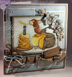 Nataschas Blog: House Mouse Love the cut paper curls {blog is in German}